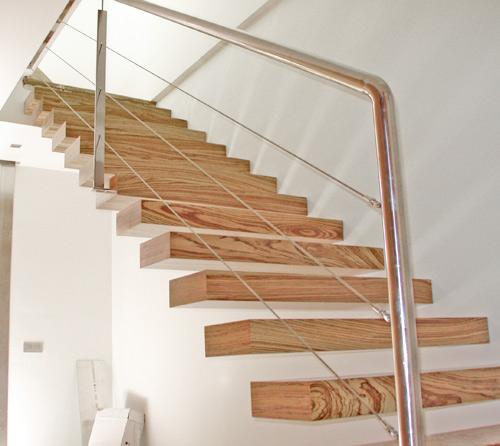 Escaleras y barandas carpinter a met lica la villa - Barandillas escaleras modernas ...